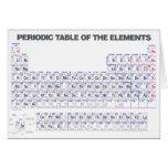 periodic table 그리팅카드