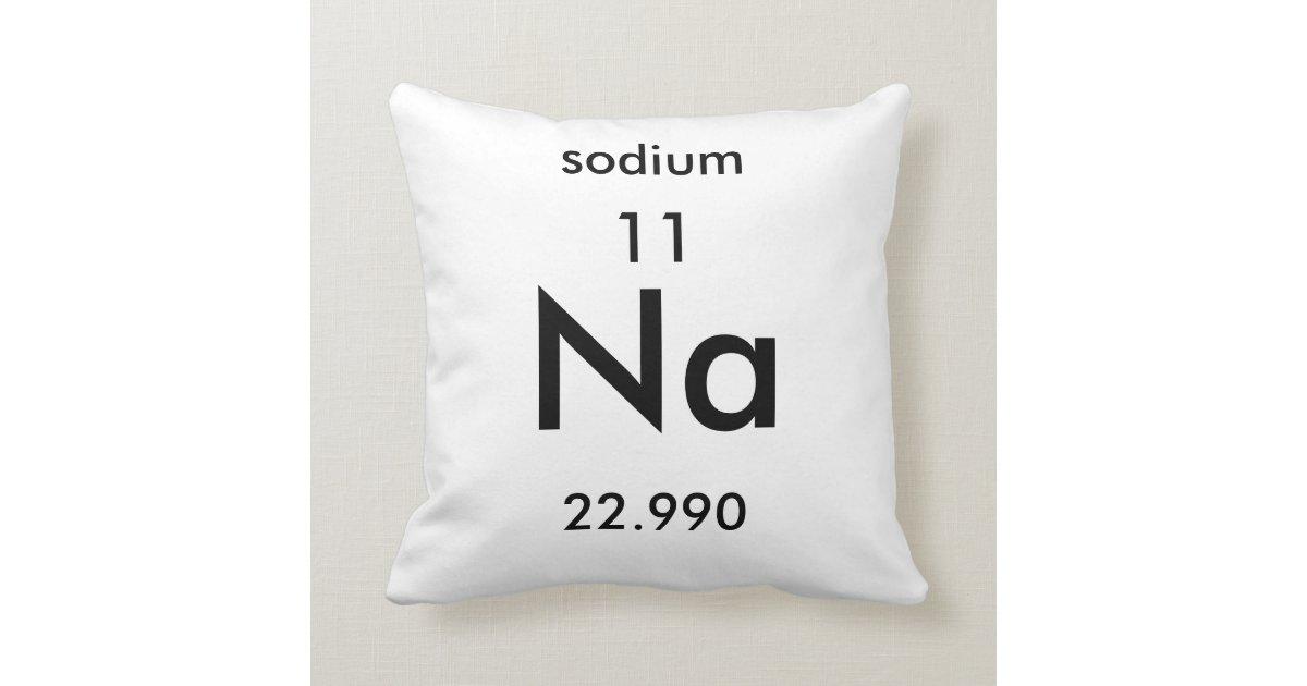 Periodic Table 11 Sodium Pillow Zazzle