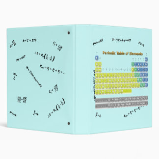 Periodic Table 1 Inch Ring 3 Ring Binder