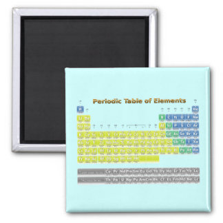 Periodic Table 2 Inch Square Magnet