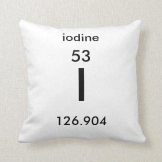 Periodic Table 53 Iodine Pillow