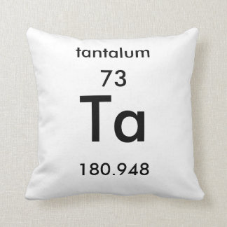 Periodic Table 73 Tantalum Pillow