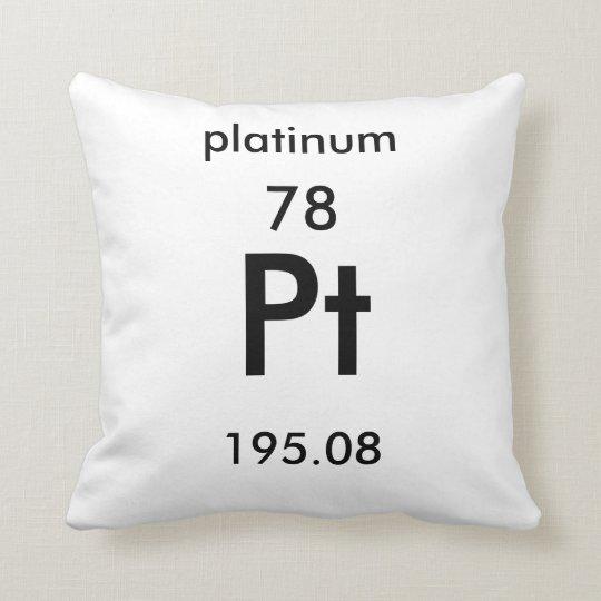 Periodic Table 78 Platinum Pillow