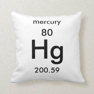 Periodic mercury gifts on zazzle periodic table 80 mercury pillow urtaz Choice Image