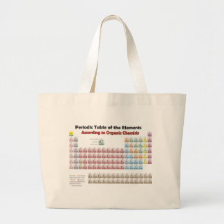 PERIODIC TABLE According to Organic Chemists Large Tote Bag
