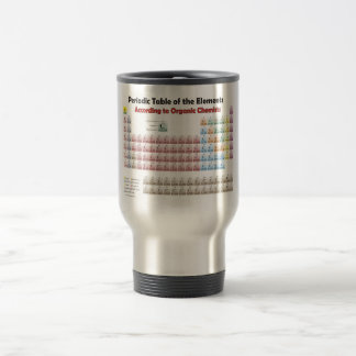 PERIODIC TABLE According to Organic Chemists Travel Mug