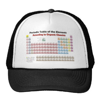 PERIODIC TABLE According to Organic Chemists Trucker Hat