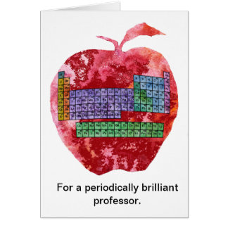 Funny chemistry teacher cards greeting photo cards zazzle periodic table apple card urtaz Choice Image