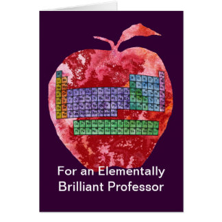 Funny chemistry teacher greeting cards zazzle periodic table apple card urtaz Choice Image