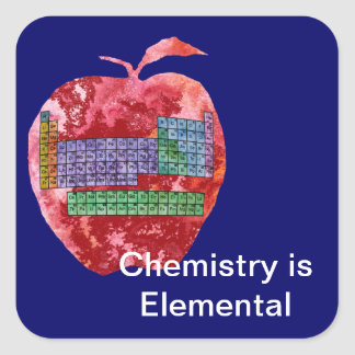 Periodic Table Apple Square Sticker
