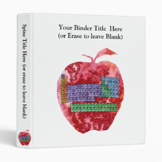 Periodic Table Apple with Customizable Text Binder