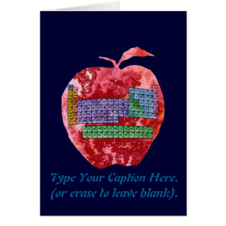 Periodic Table Apple with Customizable Text Card