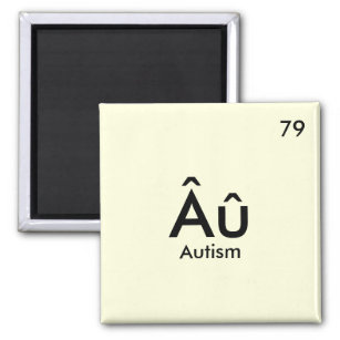 Gold periodic table home furnishings accessories zazzle periodic table autism magnet urtaz Gallery