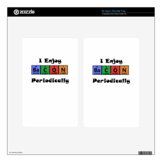 Periodic Table Bacon Science Chemistry Funny Decals For Kindle Fire