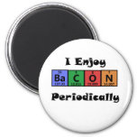 Periodic Table Bacon Science Chemistry Funny 2 Inch Round Magnet