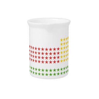 Periodic table beverage pitcher