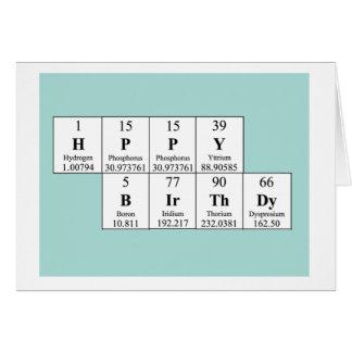 Periodic Table Birthday Card