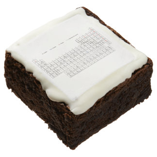 periodic table brownie