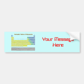 Periodic Table Bumper Sticker