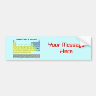 Periodic Table Car Bumper Sticker