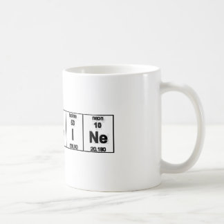 Periodic Table Caffeine Coffee Mug