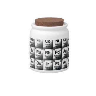 Periodic table candy jars