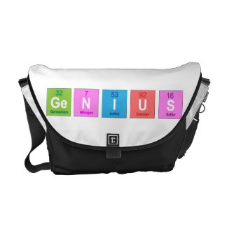 Periodic table chemistry fun messenger bags