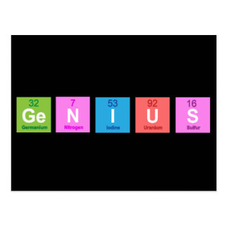 Periodic table chemistry fun postcard
