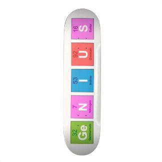 Periodic table chemistry fun skateboard