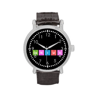 Periodic table chemistry fun wrist watches