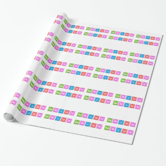 Periodic table chemistry fun gift wrap paper