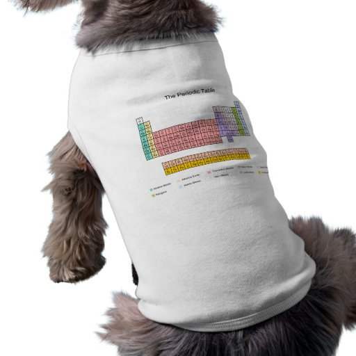 Periodic Table Doggie T Shirt