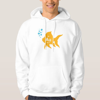 Periodic Table Elemental Gold Fish Hoodie