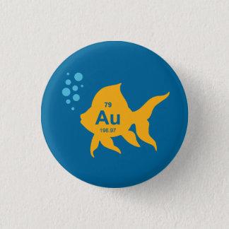Periodic Table Elemental Gold Fish Pinback Button