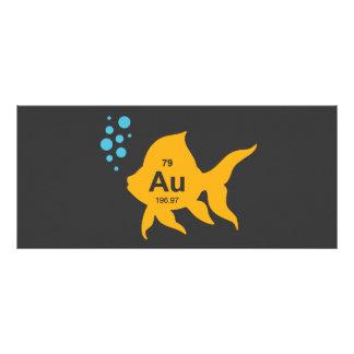 Periodic Table Elemental Gold Fish Rack Card Design