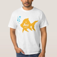 Periodic Table Elemental Gold Fish Tshirts