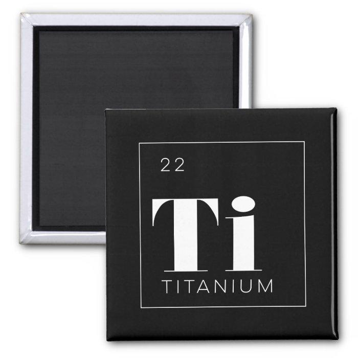 Periodic Table Elements Button // Titanium 2 Inch Square ...