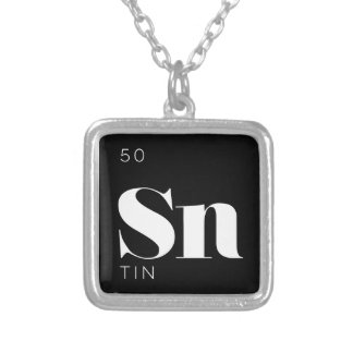 Periodic Table Elements Necklace // Tin