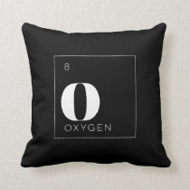 Periodic Table Elements Pillow // Oxygen