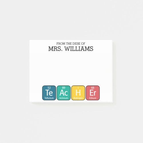 Periodic Table Elements Spelling Teacher Post_it Notes