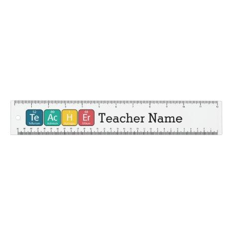 Periodic Table Elements Spelling Teacher Ruler