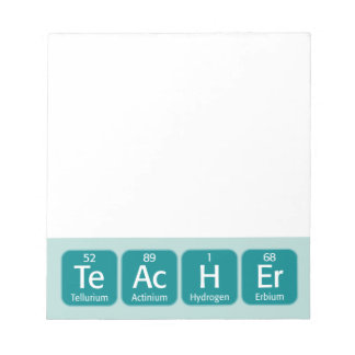 Periodic Table Elements Spelling Teacher Scratch Pads