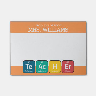 Periodic Table Elements Spelling Teacher Post-it® Notes