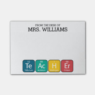 Science post it notes zazzle periodic table elements spelling teacher post it notes urtaz Images