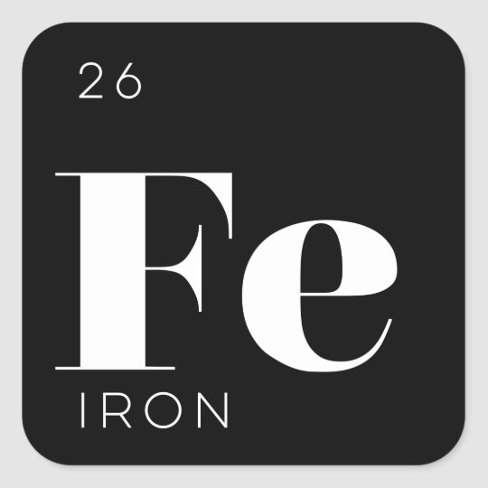 Iron Element Symbol Black And White iron periodic table | ...