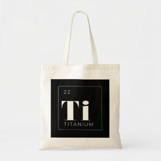 Periodic Table Elements Tote Bag // Titanium