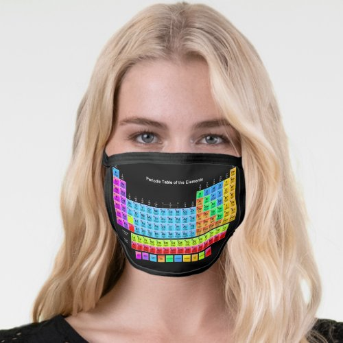 Periodic Table Face Mask