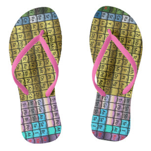 Periodic table of the elements shoes zazzle periodic table flip flops urtaz Choice Image
