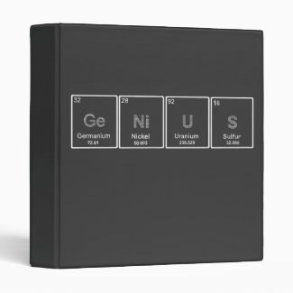Periodic Table GeNiUS binder
