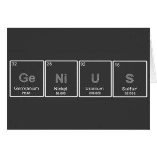 periodic table GeNiUS blank greeting card